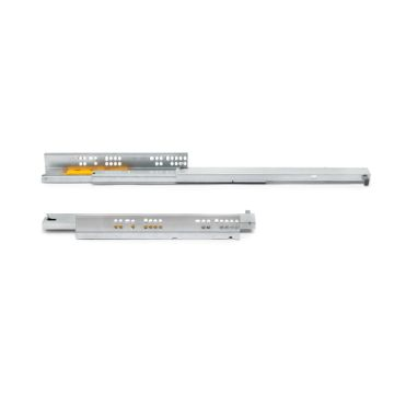 Silver concealed drawer runners with partial extraction and push system