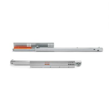 Slippe concealed drawer runners with partial extraction and push system
