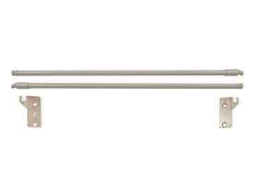 Emuca Set of gallery rails for Ultrabox kitchen and bathroom drawers