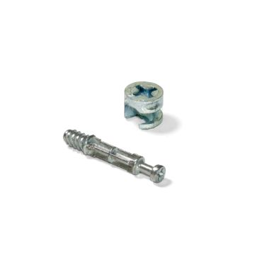 T12 Cams and dowels kit with bolts, Ø 6 mm