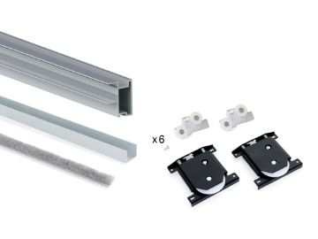 Handle profile set Sharp 16 for one sliding door