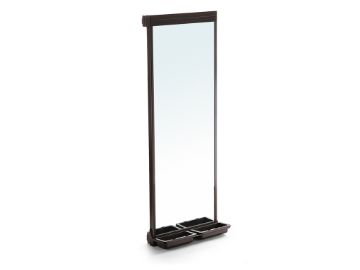 Emuca Moka extractable mirror for inside wardrobe
