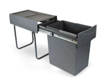 Emuca Recycle 20L Recycling bin for kitchen, lower fixing and manual removal.