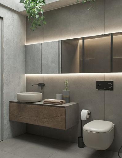 Iluminación en baño