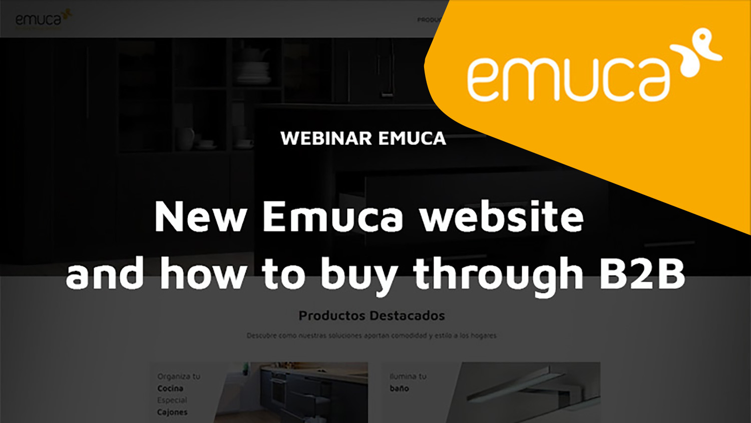 New Emuca website and how to buy through B2B